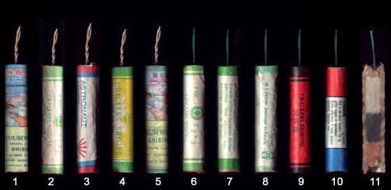 plaatje soorten vuurwerk